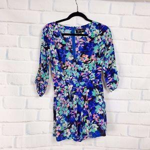 Yumi Kim Floral Silk Romper XS